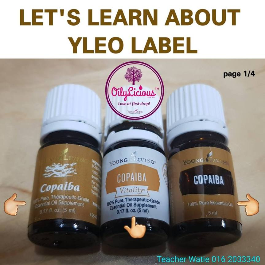 MARI BELAJAR TENTANG LABEL BOTOL YOUNG LIVING ESSENTIAL OILS!